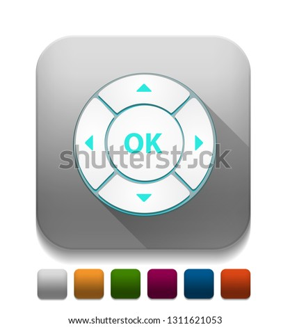control button With long shadow over app button
