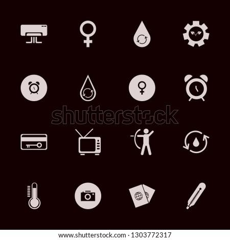 control icon set with hydraulic