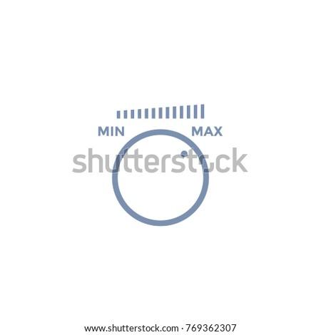 control knob, regulator icon on white Stock photo ©