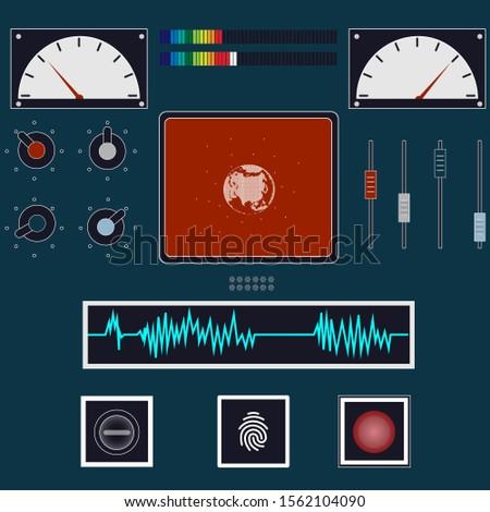 Control panel. Control panel. Vector illustration