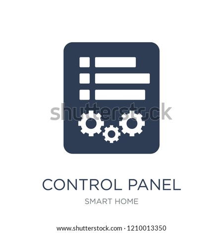 Control panel icon. Trendy flat vector Control panel icon on white background from smart home collection, vector illustration can be use for web and mobile, eps10
