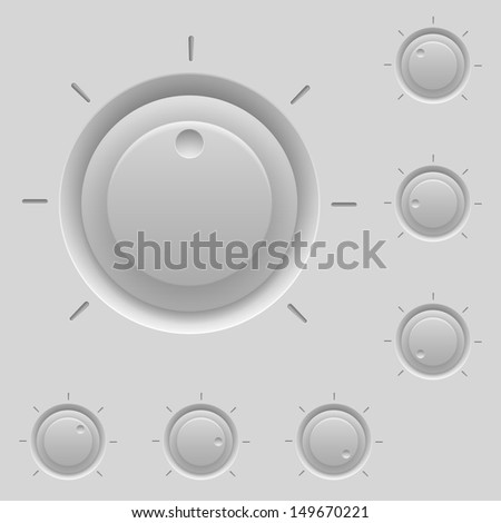 Control panel with switches. Illustration for design