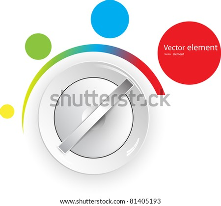 control switcher - stock vector
