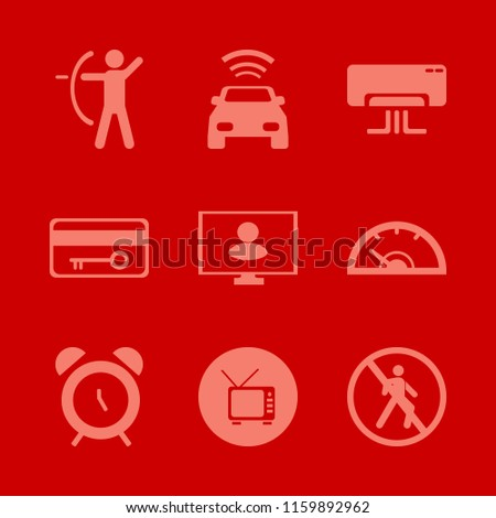 control vector icons set with