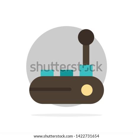 Controller, Joy Pad, Joy Stick, Joy pad Abstract Circle Background Flat color Icon
