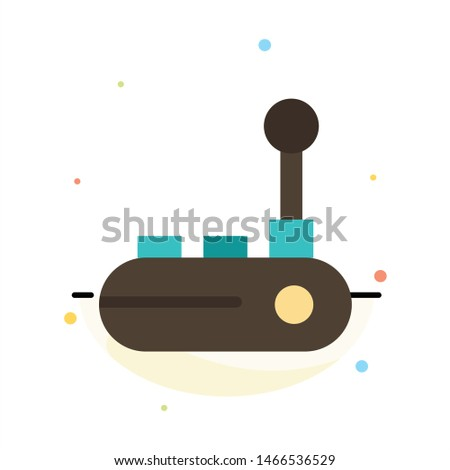 Controller, Joy Pad, Joy Stick, Joy pad Abstract Flat Color Icon Template. Vector Icon Template background