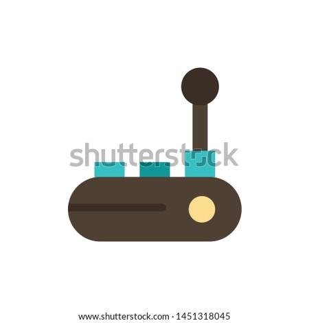 Controller, Joy Pad, Joy Stick, Joy pad  Flat Color Icon. Vector icon banner Template
