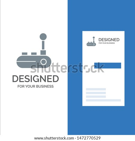 Controller, Joy Pad, Joy Stick, Joy pad Grey Logo Design and Business Card Template