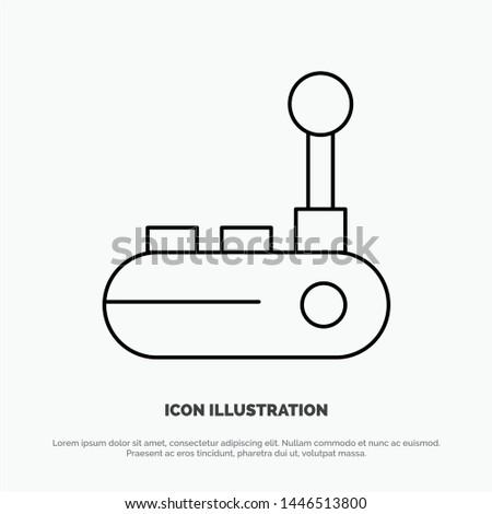 Controller, Joy Pad, Joy Stick, Joy pad Line Icon Vector