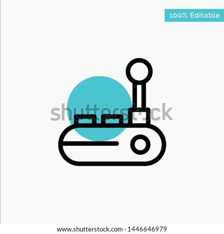 Controller, Joy Pad, Joy Stick, Joy pad turquoise highlight circle point Vector icon