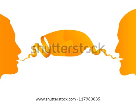 conversation between two people, vector illustration