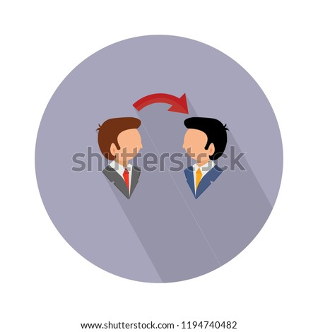 conversation icon - vector communication icon. people talk sign and symbol