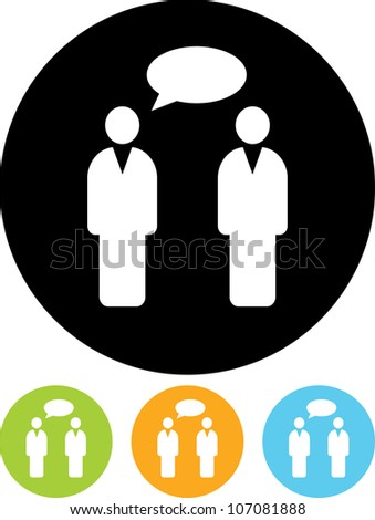 Conversation. People speaking - Vector icon isolated