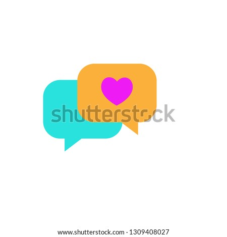 Conversation with heart icon. Element of Web Valentine day icon for mobile concept and web apps. Detailed Conversation with heart icon can be used for web and mobile