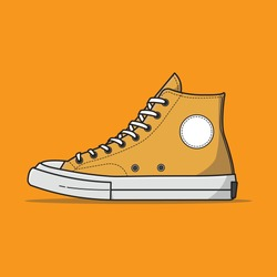 Converse shoe vector, can be used for logos, icons, etc.
