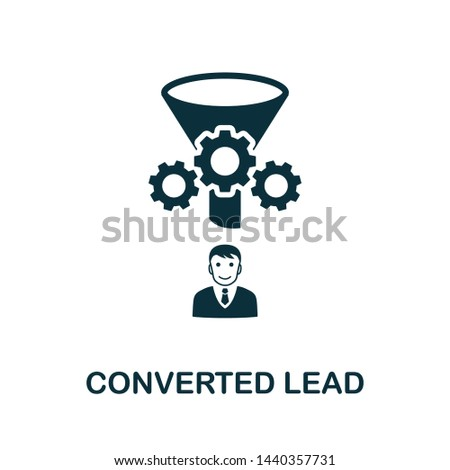 Converted Lead vector icon illustration. Creative sign from crm icons collection. Filled flat Converted Lead icon for computer and mobile. Symbol, logo vector graphics.