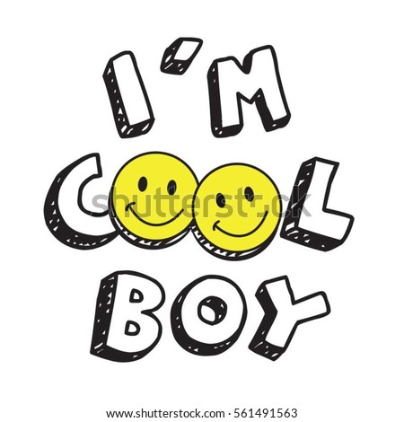 coo boy l smile typography  tee
