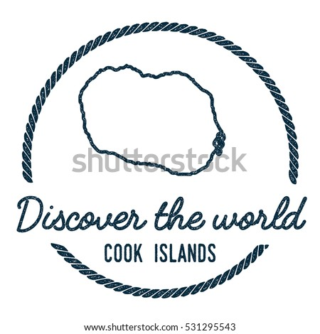 cook islands map outline