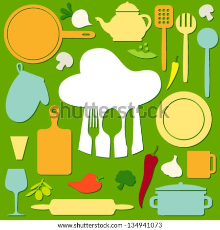 cook pattern on green