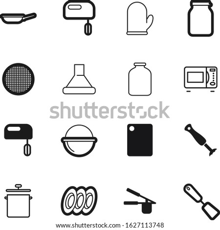 cook vector icon set such as