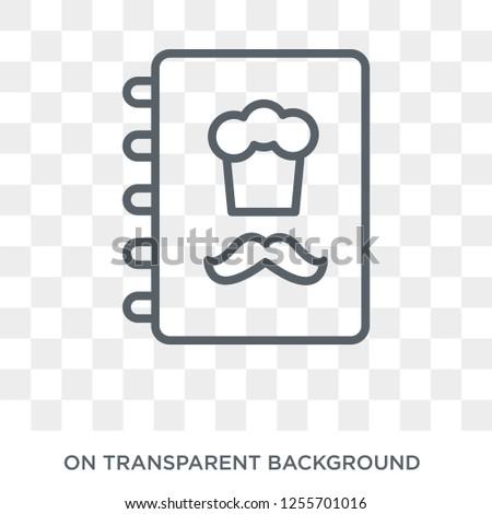Cookbook icon. Cookbook design concept from Restaurant collection. Simple element vector illustration on transparent background.