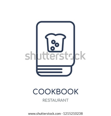 Cookbook icon. Cookbook linear symbol design from Restaurant collection. Simple outline element vector illustration on white background.