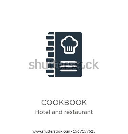Cookbook icon vector. Trendy flat cookbook icon from hotel and restaurant collection isolated on white background. Vector illustration can be used for web and mobile graphic design, logo, eps10
