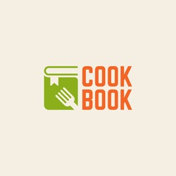 Cookbook isolated vector logo template