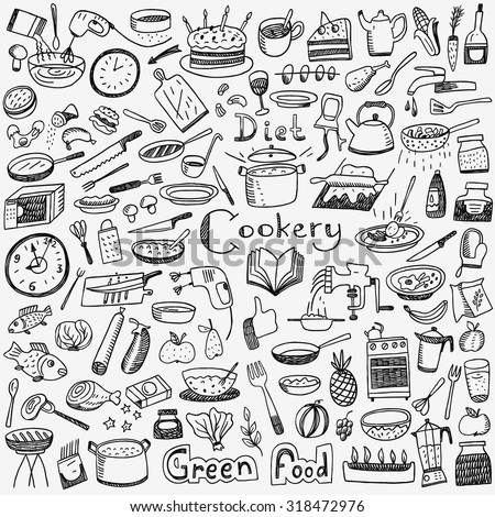 cookery  natural food   doodles