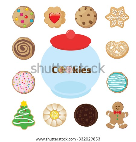 cookie jar surrounded by