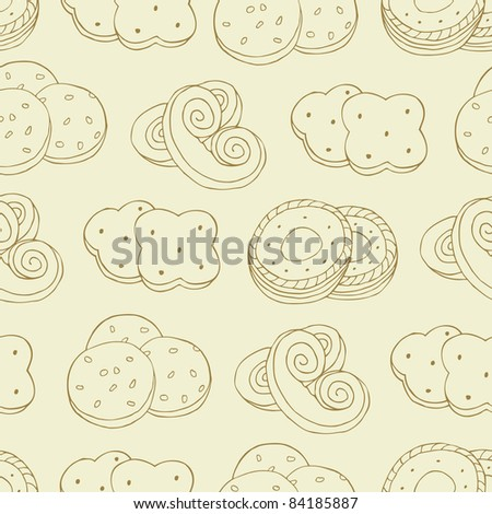 cookie seamless pattern