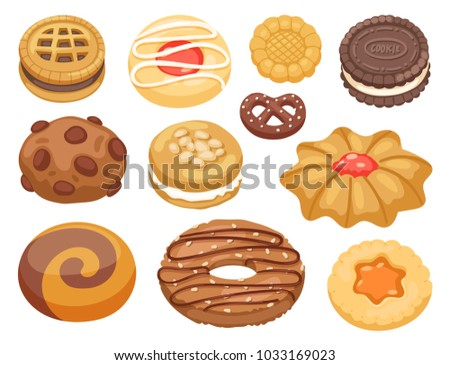 cookie vector cakes top view