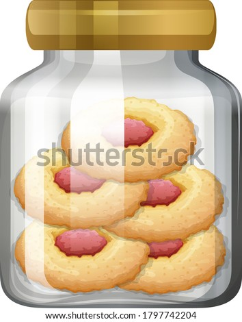 Cookies in the glass jar illustration