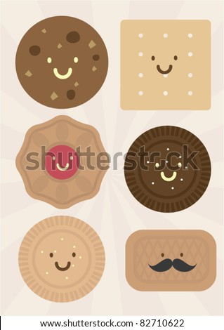 cookies vector illustration