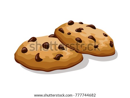 cookies with chocolate ストックフォト ©