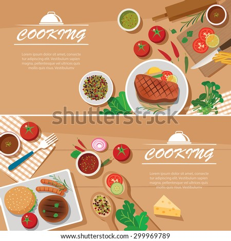 cooking banner flat design