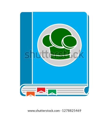 cooking book icon-restaurant sign-kitchen illustration-cookbook illustration