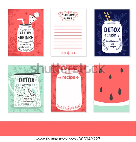 cooking cards  notes  stickers
