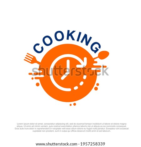 Cooking Class Design and cooking course logo, kitchen icons set. cooking classes at home logo. Fast Food Delivery logo template. fast cooking recipes logo design