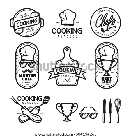 cooking classes labels badges