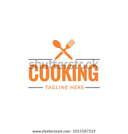 cooking food fork and spoon restaurant logo icon vector template
