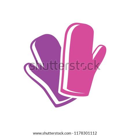 cooking gloves icon - vector gloves illustration, gloves symbol