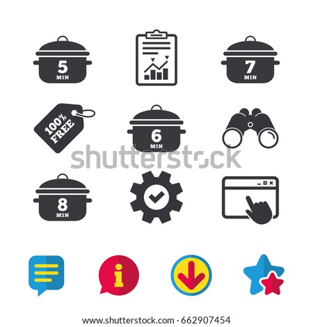 cooking pan icons boil 5  6  7