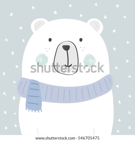cool and cute polar bear