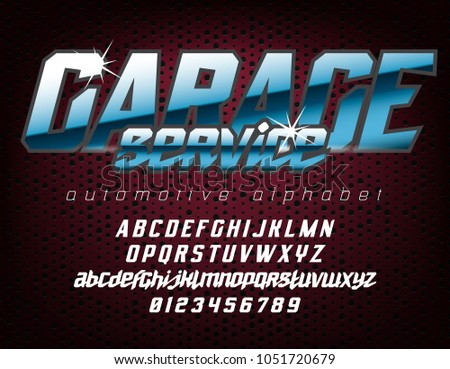 Cool automotive typeface with sans serif uppercase letters and script small case. Good for bright captions and unforgettable logos.