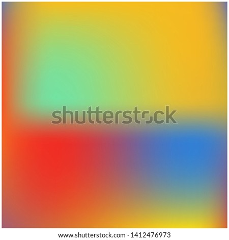 Cool backdrop from simple patterns. Vector illustration flyer. Graceful splash and spreading spot. Red yellow and blue beautiful backdrops for use on modern electronic devices.