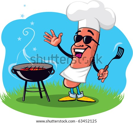 Cool Barbecue Hot Dog with Grill