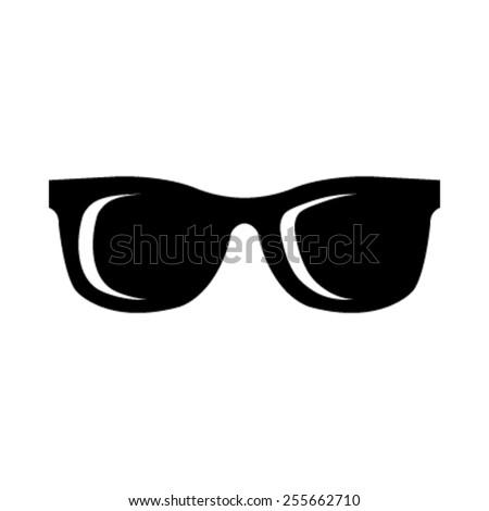 Cool Black Cartoon Sunglasses Eye Frames vector icon
