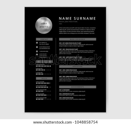graphic designer resume template vector download free vector art