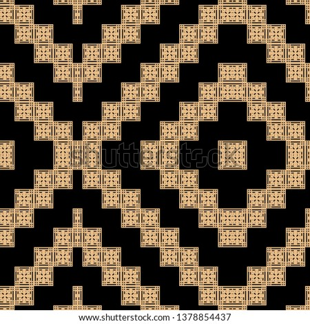 cool black golden Art Deco pattern in ethnic style Aztec style hipster style